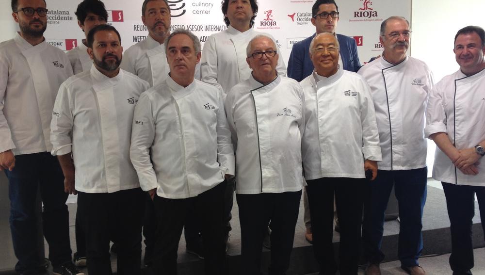 Los chefs, reunidos en el Basque Culinary Center