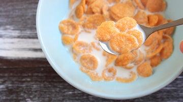Bol de leche con cereales