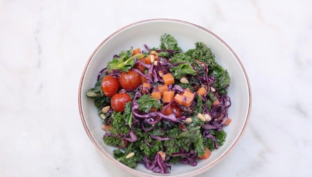 ¡Qué bonita la ensalada de kale!