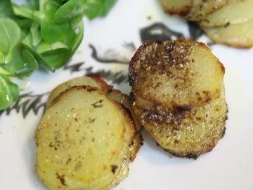 Montañitas de patatas.