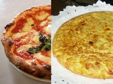 ¿Pizza o tortilla? ¿Qué preferís?
