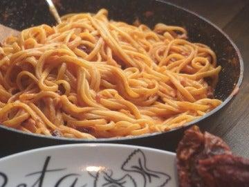 linguine tomate seco