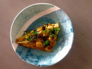 Dorada con escabeche de mango y litchi
