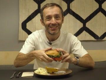 La hamburguesa de canguro, sorprendente.