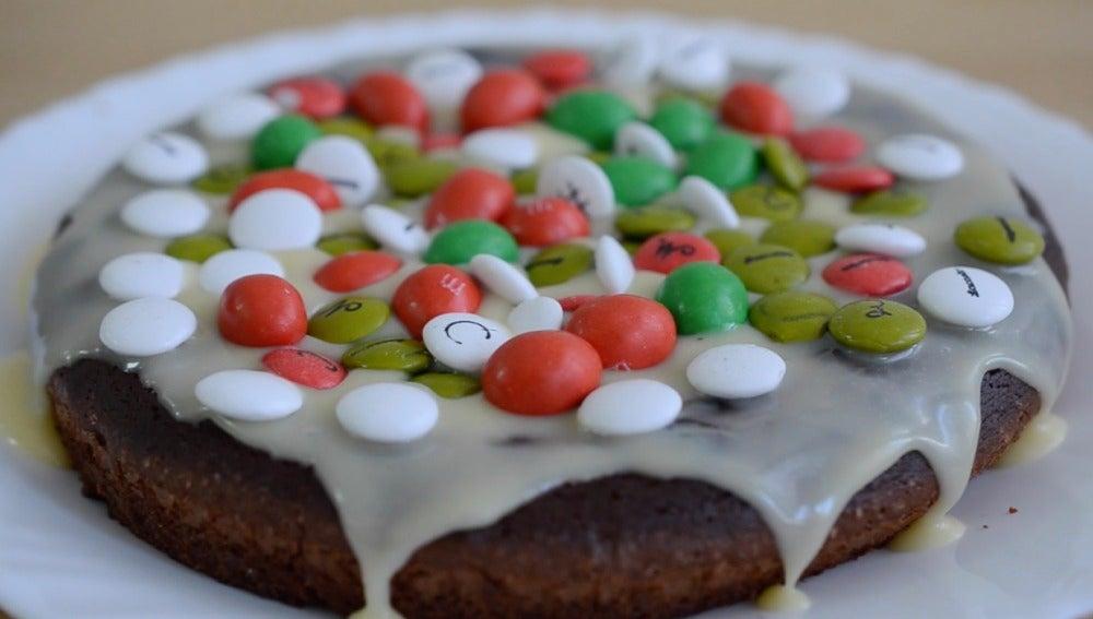 Así luce este brownie navideño.