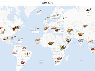 Mapamundi gastronómico