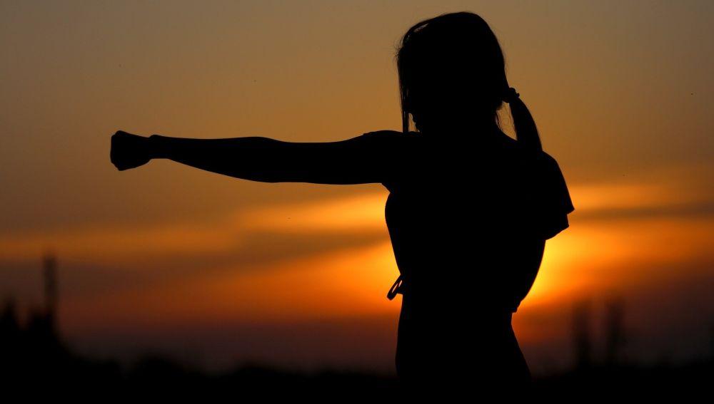 Karate al atardecer
