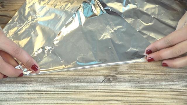 Lados del papel de aluminio