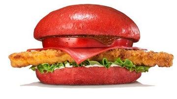 La hamburguesa roja del infierno de Burger King.