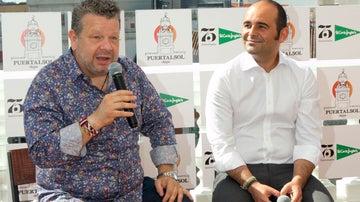 Chicote, con Gullermo Arcenegui, de El Corte Inglés.