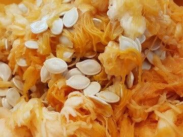 Las semillas de la calabaza son aprovechables.