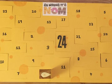 Calendario adviento de queso