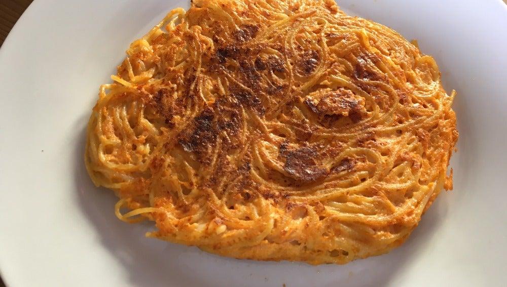 La pizza de pasta que revivirá tus espaguetis.