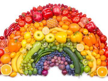Frutas y verduras: un arcoíris de beneficios