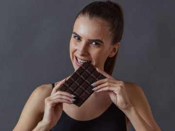 Comiendo chocolate