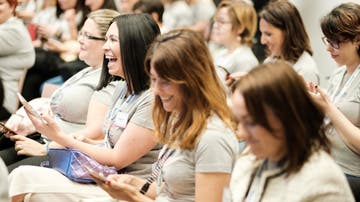 Algunas de las asistentes a la Convención Mamis Digitales