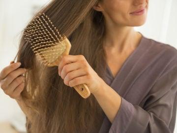 Cepillándose el pelo