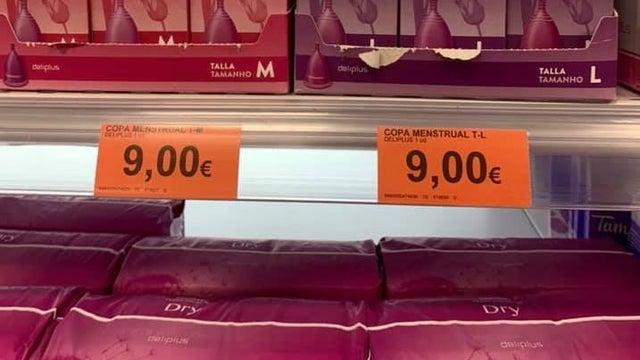 Copa menstrual de Mercadona