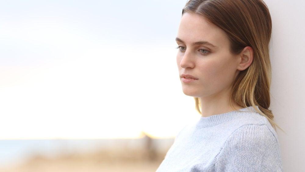 Mujer con una bajada de tensión
