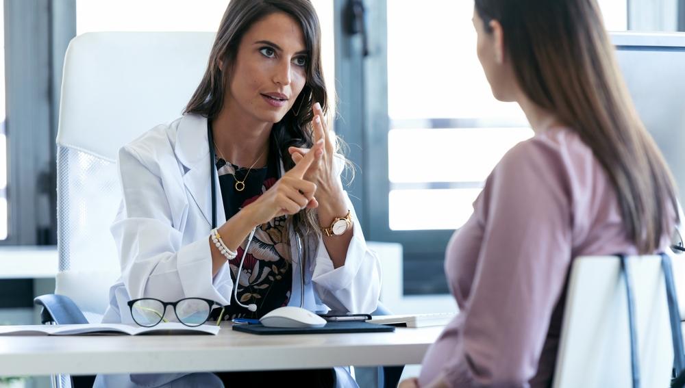 Mujer en ginecólogo